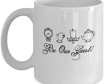 Beauty and the Beast Be Our Guest Coffee Cup Mug Gift Disney Mrs Potts