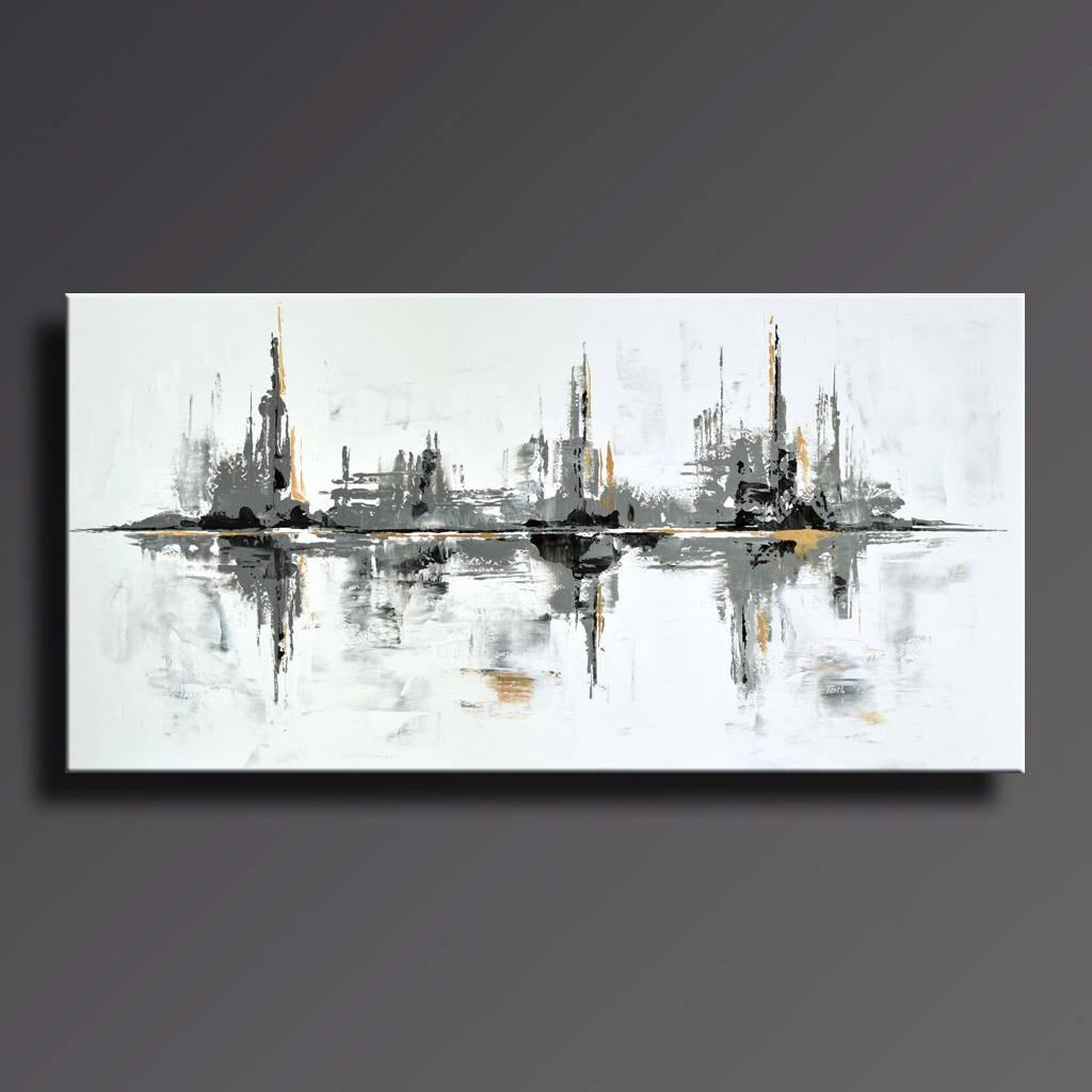 48 große ursprüngliche abstrakte Malerei auf Leinwand