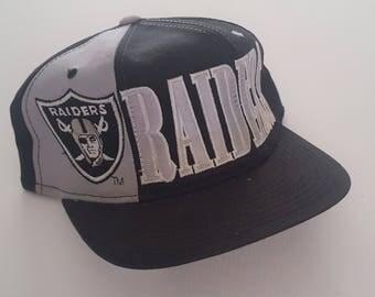 Vintage Los Angeles Raiders Starter Snapback Hat NFL  VTG