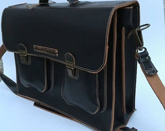 Man Leather Briefcase, Business Briefcase, 13 inches laptop briefcase, business man briefcase,  CEO Bag, Leather Bag, Man Bag