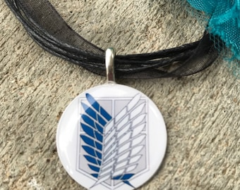 Attack On Titan Scout Symbol Necklace Pendant