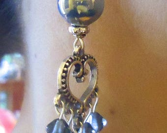 """Earrings""""freshwater story"""" uniquely well! MAPERLE"""