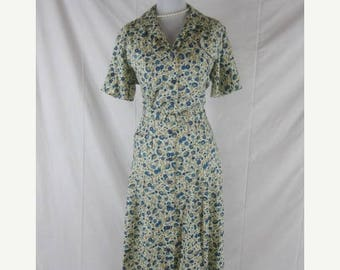 On sale Vtg 50s 60s ActiviTee Vintage Garden Party Rayon Blend NOS NWT House Day Dress