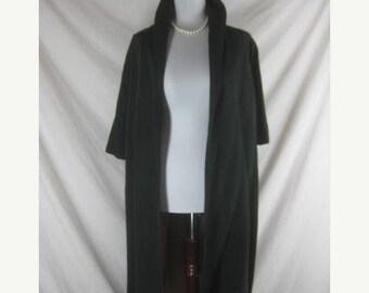 Summer sale Vtg 50s 60s Bond 5th Ave Designer Black Faille Vintage Swing Clutch Coat