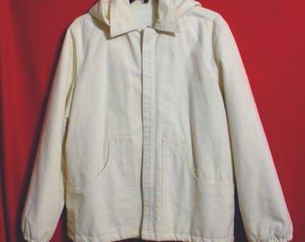 50% Sale GANT RUGGER Men's L White Pants and Hooded Jacket - Designer - All  Raw Cotton - Large - Resort Leisure Recreation - 50 Percent Off