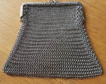 2. Chainmail Handbag, Chainmail Clutch, Evening Handbag, Handheld Bag.