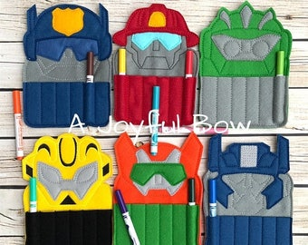 SALE EXTENDED  6/23 Transformer crayon holders, rescue bots, transformer party, transformer gifts, party favors