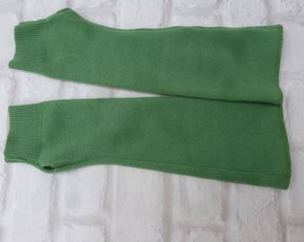 Green gloves armwarmers soft gift idea handmade cashmere hand accessory cosy gift for her birthday present green wool long fingerless gloves