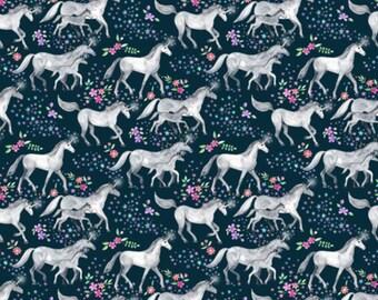 Unicorn fitted crib sheet