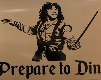 Instant pot decal, Inigo Montoya instant pot decal, Princess Bride instant pot decal, Prepare to Dine decal, decals for instant pot