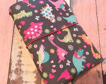 Ex- Wide/ May Designs Fabric Fauxdori -Fabric Travelers Notebook - Fauxdori