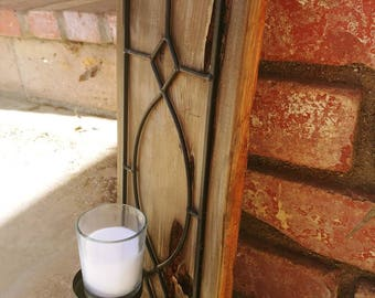 Rustic wall sconce candle holder