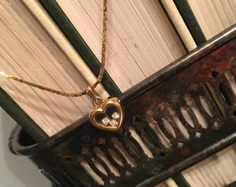 Vintage necklace, heart necklace, costume jewelry, vintage jewelry, Avon jewelry