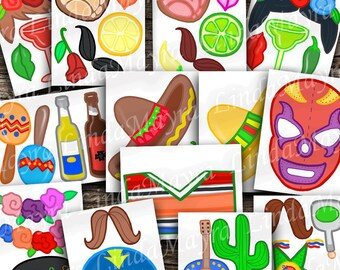 FIesta Cinco de Mayo Props DIY Photo booth Props digital download