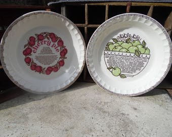 Royal China fruit pie plates, 1980's