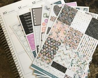 Dark Floral Full Collection - Planner Stickers - Erin Condren - No White Space Planning