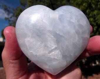 Beautiful Celestite Heart - Celestite, Celestite Heart, Celestite Stone, Hearts, Celestite Crystal, Crystal Heart, Romantic Gift, Love Gift