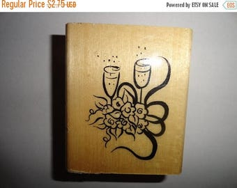 50% OFF Wine Glasses Stamp wedding anniversary 2.5 by 3 inches