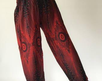 SM0014 Genie Pants Comfy Trouser, Gypsy Pants Rayon Pants,Aladdin Pants Maxi Pants Boho Pants