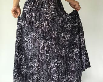 SK0004 Handmade Maxi Skirt for Beach Summer ,One size fit all