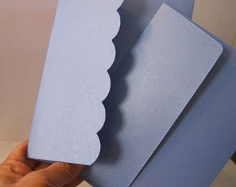 A6 Sky Blue Shimmer Envelopes Qty 25 Scalloped/straight flap 4.75 x 6.5 inches envelope Custom paper Blue envelope invitation wedding party