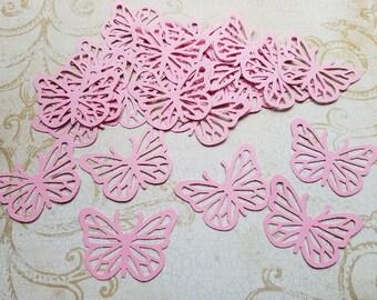 Pink Die Punched butterflies  #TLC-19