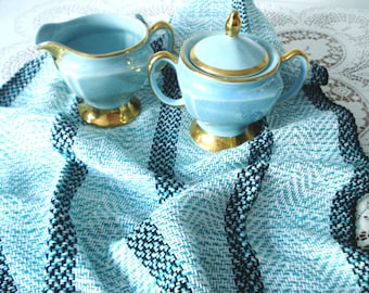 Cotton Tea Towel in Sea Mist Colorway