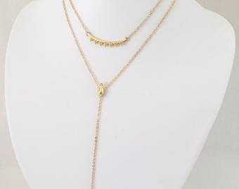 Morgan - Silver, Gold or Rose Gold Double Layer Necklace