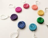 Rainbow Stitch Markers. Little Button stitch markers. Universal. Knitting and crochet. Rainbow swirl.