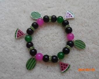 JUICY WATERMELON! Charm Bracelet