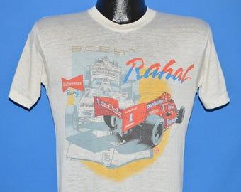 80s Bobby Rahal Budweiser Race Car Distressed t-shirt Small