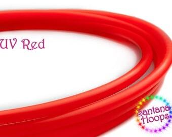 "3/4"" UV Red polypro Hula Hoop"