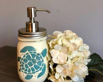 Turtle Mason Jar Soap Dispenser