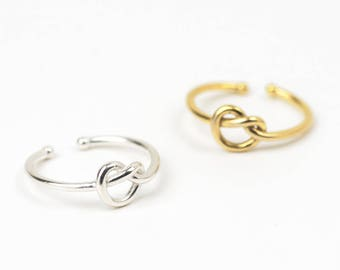 Sterling Silver Knot Ring • 24k Gold Knot Ring • Love Knot Ring • Sterling Silver Ring • Friendship Ring • Infinity Knot Ring • Promise Ring