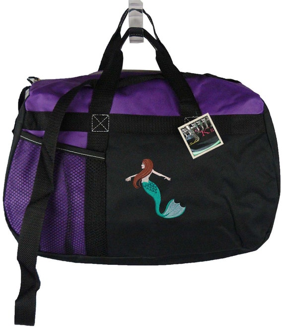 dac10ecdf1 Mermaid Gemline Sequel Sport Duffel Overnight Travel Bag + Free Name Custom  Embroidered