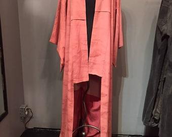 Pink Silk Kimono