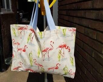 Flamingo Cotton canvas tote bag
