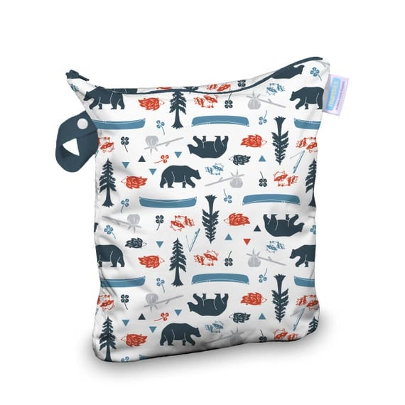 Thirsties Wet Bag in Adventure Trail Print