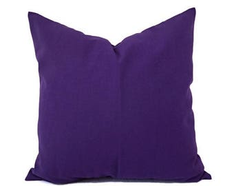 15% OFF SALE Two Solid Purple Pillow Covers - Purple Couch Pillow Covers - Lumbar Pillow- Purple Euro Sham - Decorative Pillow - Solid Purpl