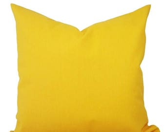 15% OFF SALE Two Solid Yellow Throw Pillow Covers - Yellow Couch Pillow Covers - Pillow - Yellow Gold Pillow - Decorative Pillow - Solid Yel