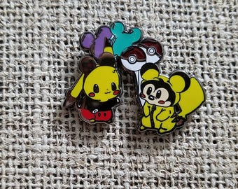 Pikachu Mickey Lapel Pin