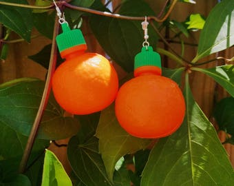 90s Oranges Earrings Fruit Candy vintage inspired mod 60s