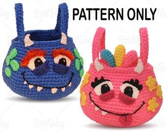 CROCHET PATTERN- Monster Trick-or-Treat Bag Pattern (PDF File)