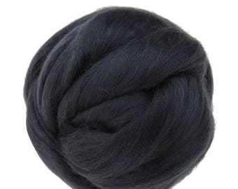 SALE Merino / Silk  Roving, (Graphite)