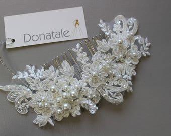 Bridal hair comb , Wedding hair piece , Bridal headpiece, Bridal hair piece  ,Wedding hair accessories, Pearl  Bridal comb, Wedding comb