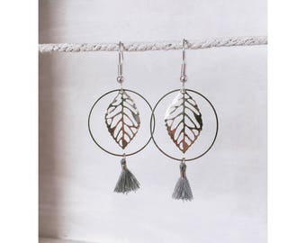 Chic silver leaf earrings