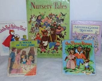 Set of 5 Vintage Classic Children's Hardcover Books