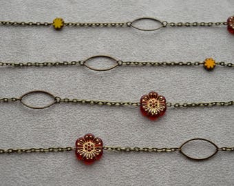 """""""Andalucia"""" Czech glass necklace"""