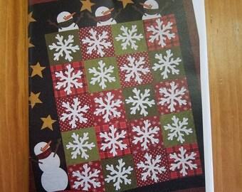 Flakey Friends Quilt Pattern The Quilt Patch Winter Snowman Quilt