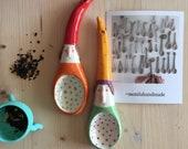 Cucchiaio in ceramica,cucchiaio artistico,cucchiaio,spoon,gnomo,elfo